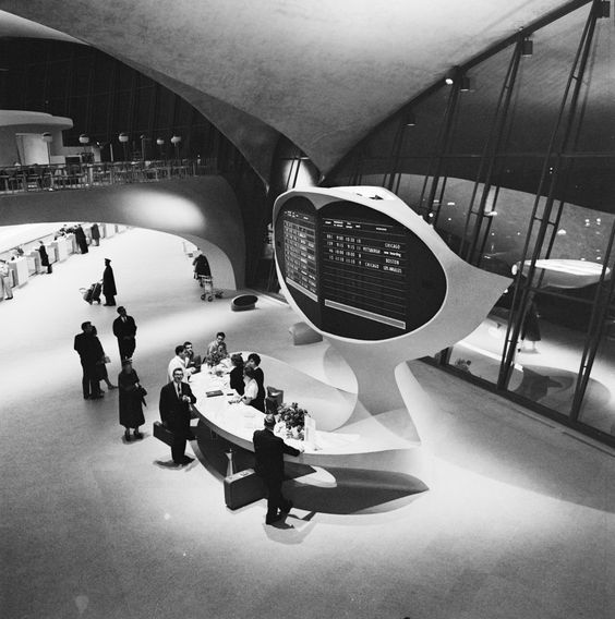 Eero Saarinen JFK Airport TWA Fly Center New-York