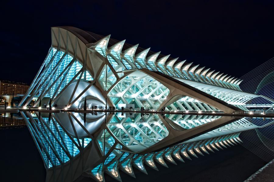 (2002) La Cité des Arts et des Sciences, Valence Espagne