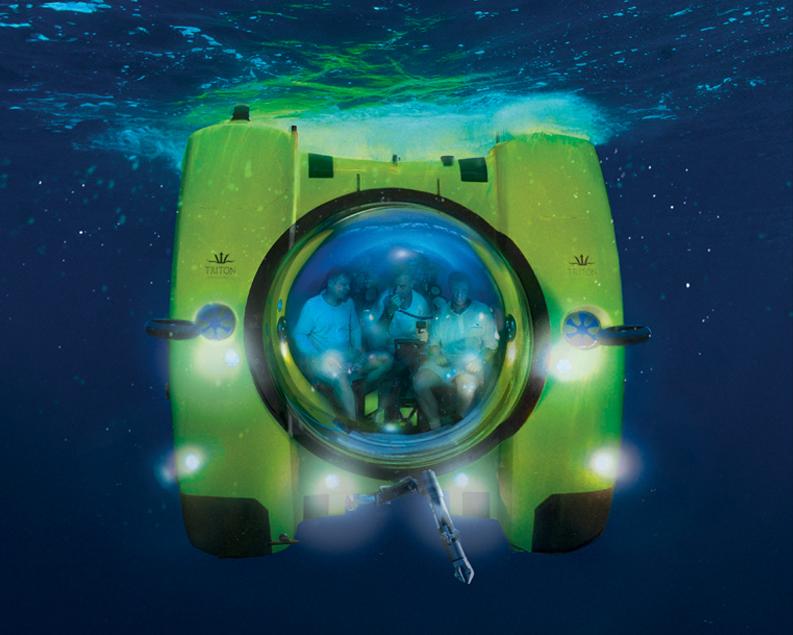 Autonomous Underwater Bathyscaphes Explorations