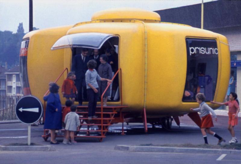 Bulle six Coques Prisunic orange – Jean Benjamin Maneval 1967
