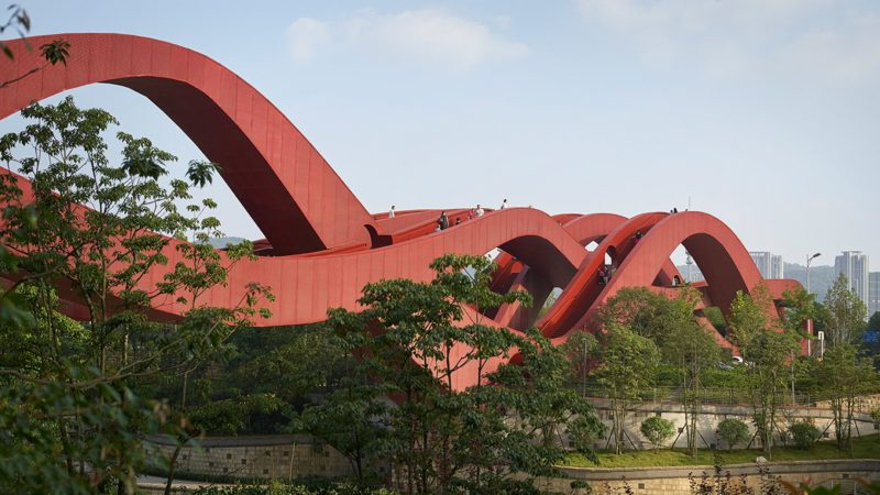 NEXT ARCHITECTS  Lucky Knot Pont à Noeud Möbius en Ruban ondulé Piéton (2013) Changsha CHINE