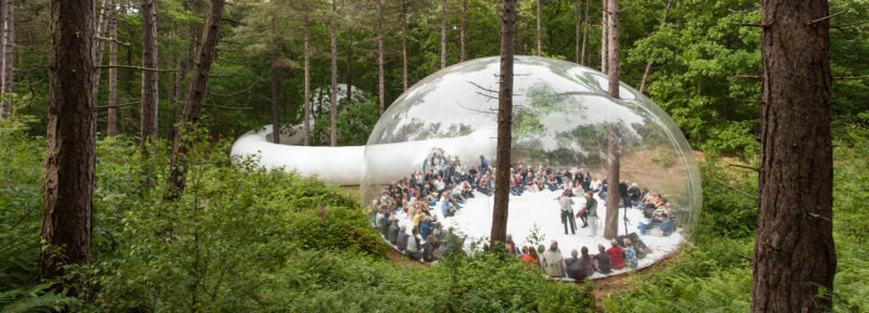 Bulle – Structure Plastique Gonflable – Loud Shadows (2017) Festival Théatrale Oerol – île Terschelling (Pays- Bas)