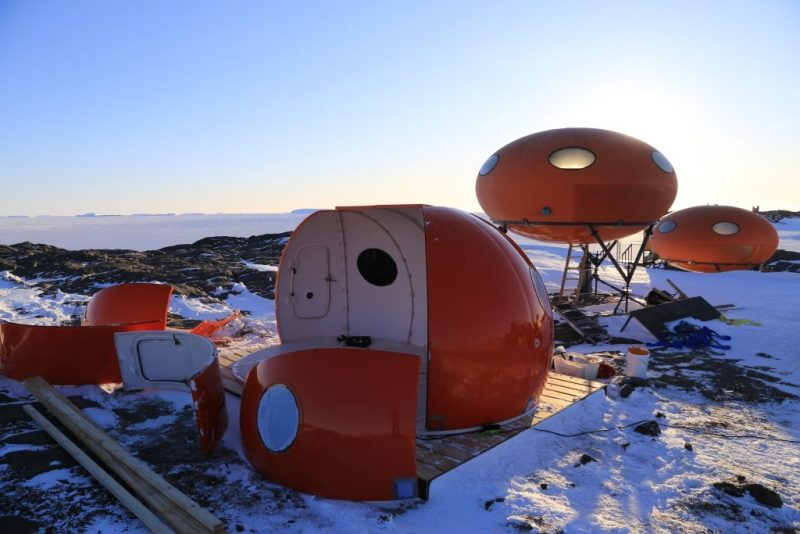 Futuro Hut, Googie – île Macquarie, Barth Australe Antarctique