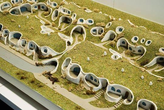 Maisons organiques (2007) Architecte Peter Vetsch (1943) Dietikon, Suisse