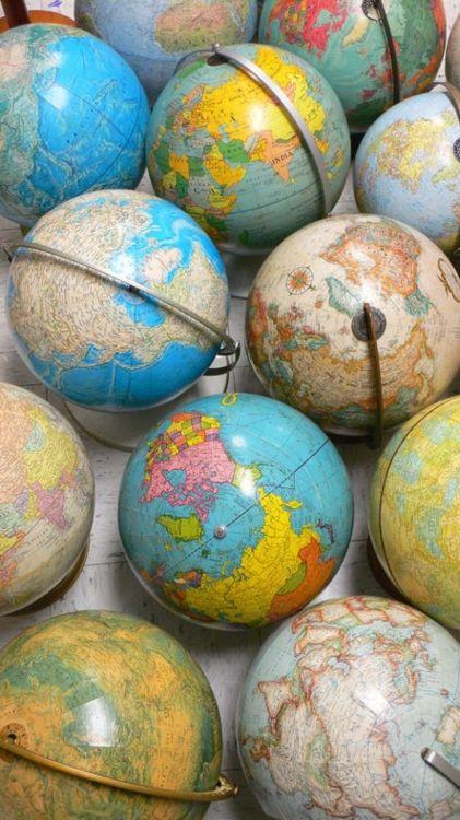 LES GLOBES, MAPPEMONDES de 1623 à nos Jours !