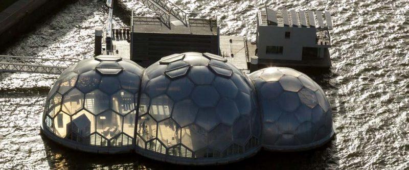 Bulle Sphères Habitat Flottant (Pavillon) 2010 – Dura Vermeer – Pays Bas, Rotterdam