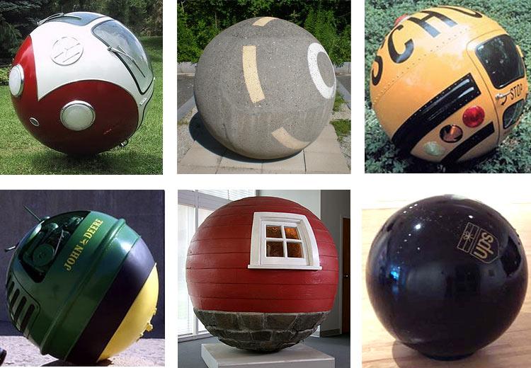 Lars-Erik Fisk Sculpteur VW Ball New-York NY