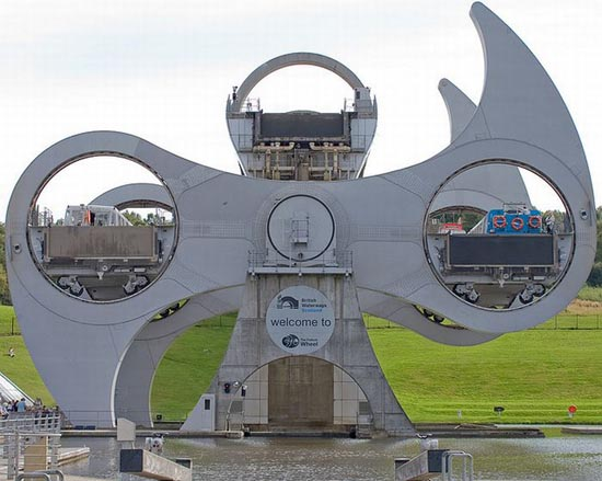 Bulle Architecture – (2002) La Falkirk wheel – Rotary Lift – UK (Scotland)
