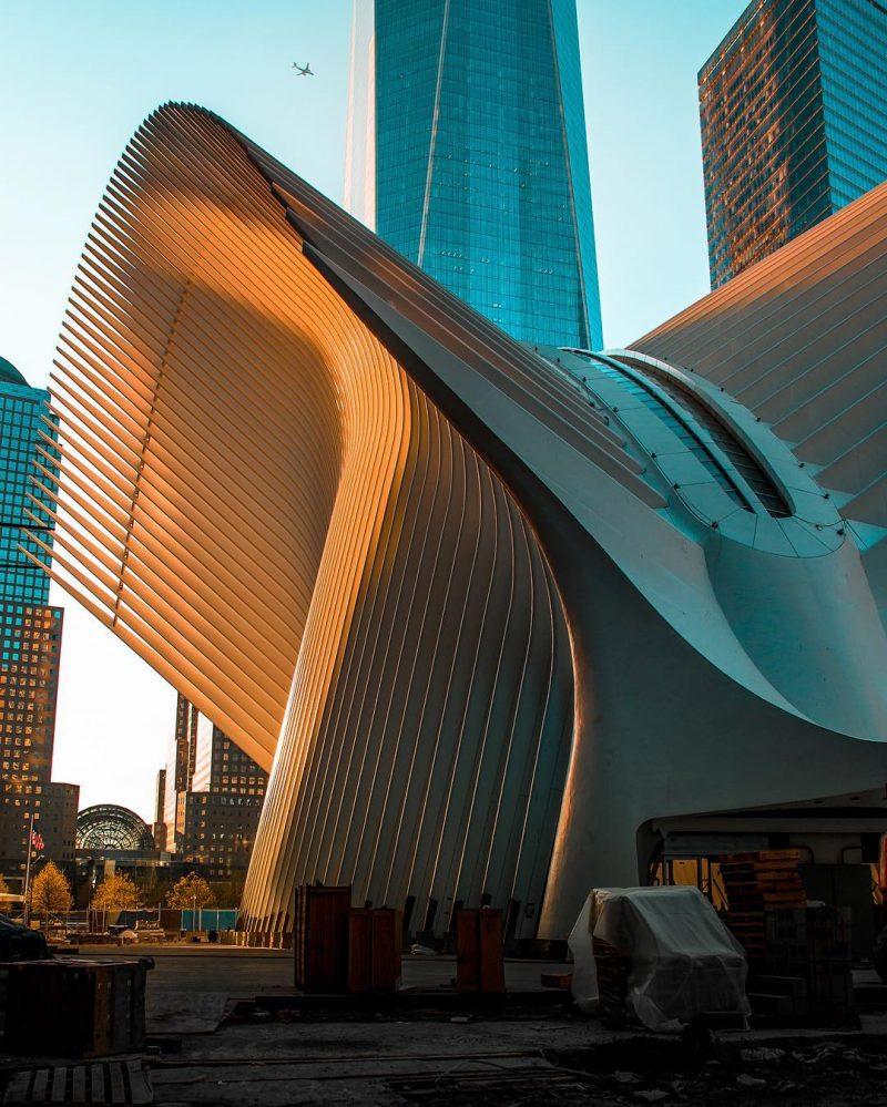 Architecte Santiago Calatrava (2016) Gare L'Oculus, Mémorial WTC – Manhattan, NEW-YORK